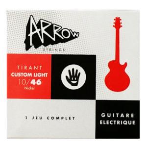 AR-ELCL - Jeu de cordes guitare électrique, rouge et noir, tirant light