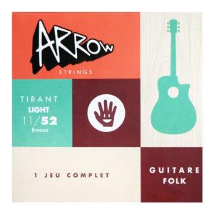 AR-FKL Jeu de cordes guitare folk light