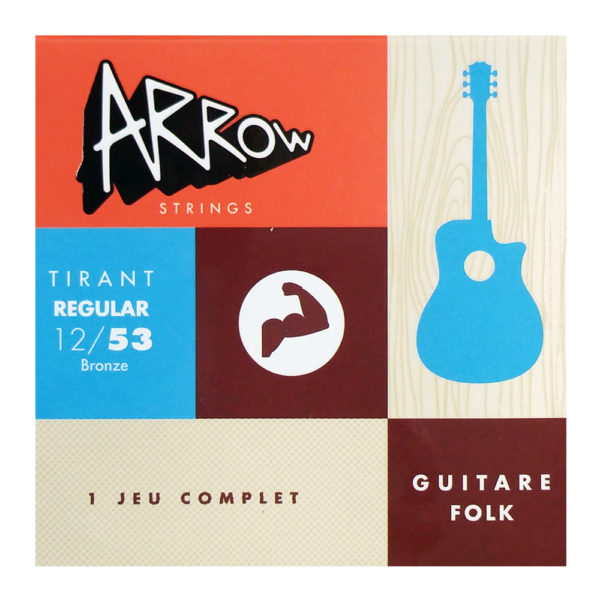 AR-FKR Jeu de cordes guitare folk normal